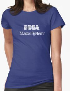 Sega Master System - White Text Womens Fitted T-Shirt