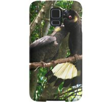 Yellow-Tailed Black Cockatoo - Male Adult & Young Samsung Galaxy Case/Skin