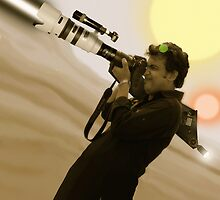 Fiaz Tariq & His Nikon D20000 Bazooka Camera by Kenny Irwin