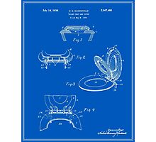 Toilet Seat and Cover Patent - Blueprint Photographic Print