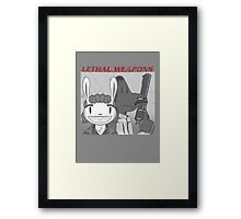 Lethal Weapons Framed Print