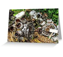 old 2ww aircraft parts Greeting Card