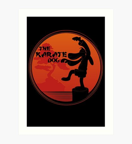 The Karate Dog  Art Print