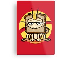 Meowth Breading Metal Print