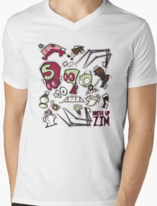 Dress up Zim Mens V-Neck T-Shirt