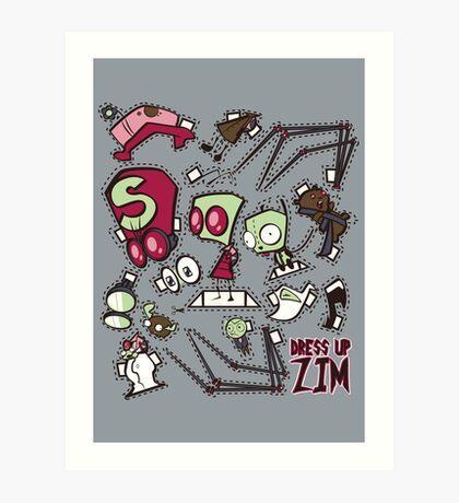 Dress up Zim Art Print