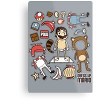Dress up Mario Metal Print