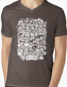 Super 16 bit Mens V-Neck T-Shirt