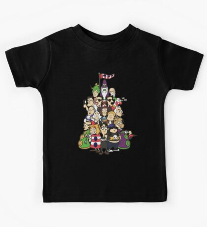 Day at the Mansion in colour! Kids Tee