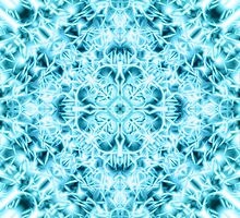 """""""Spirit of India: Snow-Fleur"""" in turquoise and cyan by FireFairy"""