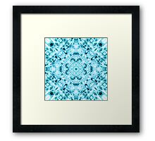 """Spirit of India: Snow-Fleur"" in turquoise and cyan Framed Print"