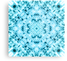 """Spirit of India: Snow-Fleur"" in turquoise and cyan Metal Print"