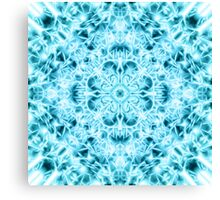 """Spirit of India: Snow-Fleur"" in turquoise and cyan Canvas Print"
