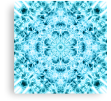 """""""Spirit of India: Snow-Fleur"""" in turquoise and cyan Canvas Print"""