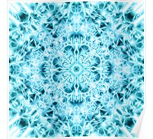 """Spirit of India: Snow-Fleur"" in turquoise and cyan Poster"