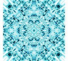 """Spirit of India: Snow-Fleur"" in turquoise and cyan Photographic Print"
