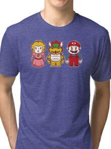 Chibi Mushroom Kingdom Tri-blend T-Shirt