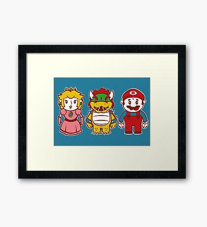 Chibi Mushroom Kingdom Framed Print