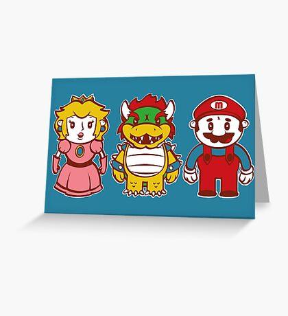 Chibi Mushroom Kingdom Greeting Card