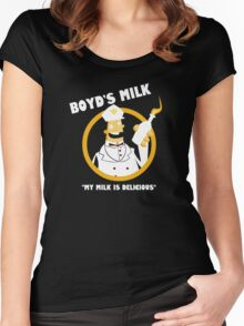 Boyd's Milk Women's Fitted Scoop T-Shirt
