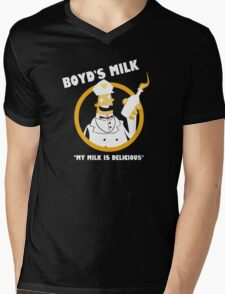 Boyd's Milk Mens V-Neck T-Shirt