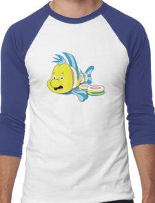 Flounder Sushi Men's Baseball ¾ T-Shirt