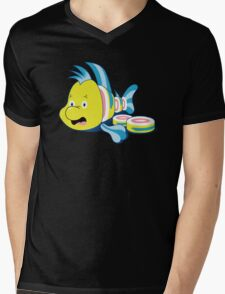 Flounder Sushi Mens V-Neck T-Shirt