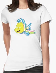 Flounder Sushi Womens Fitted T-Shirt