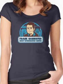 Frightener Ghost Extermination Service Women's Fitted Scoop T-Shirt