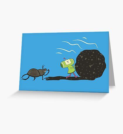 Dung Roller Katamari Greeting Card
