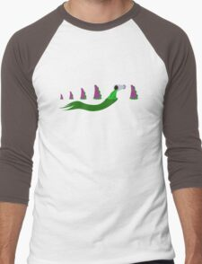 Evolution of Purple Tentacle Green Ooze Men's Baseball ¾ T-Shirt