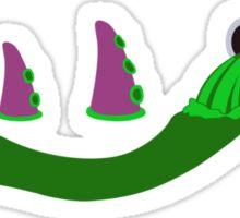 Evolution of Purple Tentacle Green Ooze Sticker