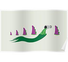 Evolution of Purple Tentacle Green Ooze Poster