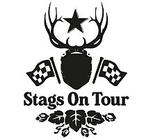 Stags On Tour - Stag Do - Karting T-Shirt by springwoodbooks