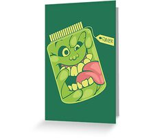 Slimer in a Jar Greeting Card