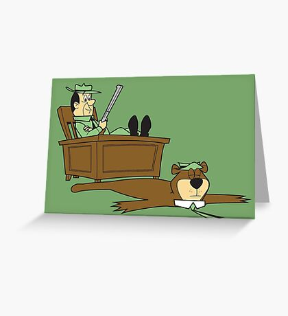 Yogi Bear rug Greeting Card