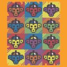 Monkey Blista Pattern Mosaic by chachipe
