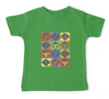 Monkey Blista Pattern Mosaic Baby Tee