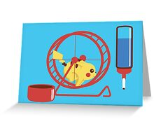 Pet Pikachu Greeting Card