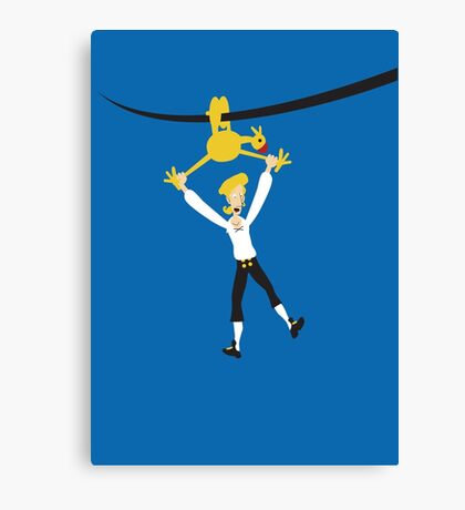 Rubber chicken with a pulley in the middle Canvas Print