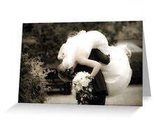 Carry me over the threshold Greeting Card