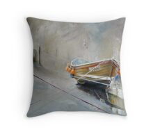 Sun Trying to Breakthrough, Staithes Throw Pillow