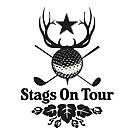 Stags On Tour - Stag Do - Golf T-Shirt by springwoodbooks