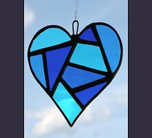 """Love Heart """"Blue"""" Unisex T-Shirt"""
