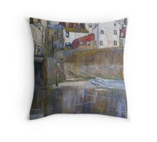 Staithes, Reflections Throw Pillow