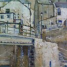 Over The Bridge, Staithes by Sue Nichol