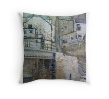 Over The Bridge, Staithes Throw Pillow