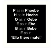 Pheobe Art Print