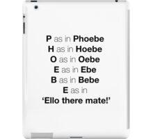 Phoebe iPad Case/Skin
