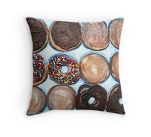 """Delightful Donuts"" Throw Pillow"